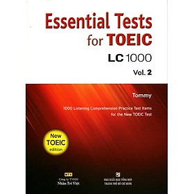 Essential Test For TOEIC LC 1000 Vol 2 (Kèm CD)
