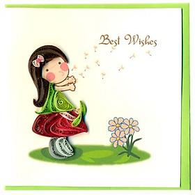 Thiệp Best Wishes Việt Net - Mẫu 2 (10 x 10 cm)