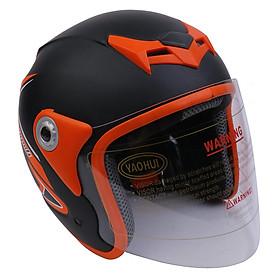 Mũ Bảo Hiểm Napoli Tem Bọ Cạp Màu Cam N039-ORANGE-KT (Kính Trong) - Size L