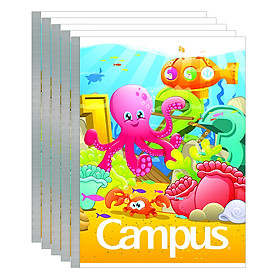 Lốc 5 Cuốn Tập 4 Ô Ly Campus A5 Under The Sea (96 Trang)