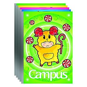 Lốc 5 Vở Campus B5 Kẻ Ngang Có Chấm Smart - NB-BSMA200 (200 Trang)