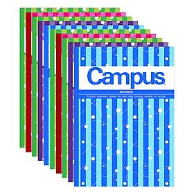 Lốc 10 Cuốn Tập 4 Ly Ngang Campus B5 Trend (120 Trang)