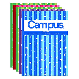 Lốc 5 Cuốn Tập 4 Ly Ngang Campus B5 Trend (200 Trang)