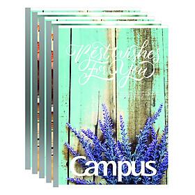 Lốc 5 Cuốn Tập 4 Ly Kẻ Ngang Campus B5 Vintage (200 Trang)