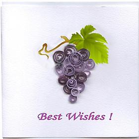 Thiệp Best Wishes Việt Net - Nho (10 x 10 cm)
