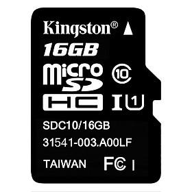 Thẻ Nhớ Micro SDHC Kingston 16GB Class 10 UHS-I SDC10G2/16GBSPFR - Hàng Chính Hãng
