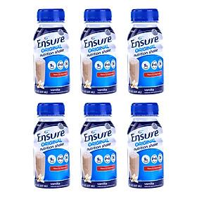 Combo 6 Chai Sữa Nước Ensure Liquid Vanilla (237ml)