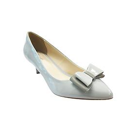 Giày Gót Nhọn 5cm Bít Mũi Đính Nơ Up&Go P05-569-GRY - Xám