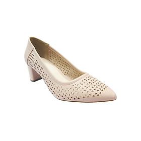 Giày Gót Vuông 5cm Bít Mũi Đục Lỗ Up&Go P05-571-PIK - Hồng