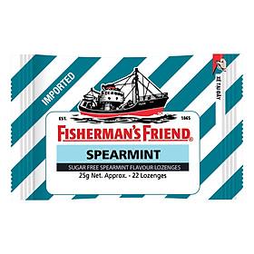 Kẹo Cay Con Tàu Fisherman's Friend Vị Spearmint Gói 25g
