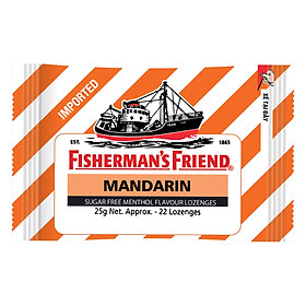 Kẹo Cay Con Tàu Fisherman's Friend Vị Quýt Gói 25g