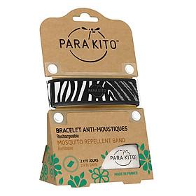 Viên Chống Muỗi PARA'KITO™ Kèm Vòng Đeo Tay Bằng Vải Hoa Văn Ngựa Vằn (Loại 2 Viên) - PARA'KITO™ Mosquito Repellent Zebra Graphic Band With 2 Tablets - PGWB01