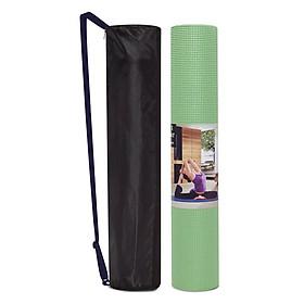 Thảm tập yoga Ribobi trơn 6mm - Xanh Lá (kèm túi đựng)