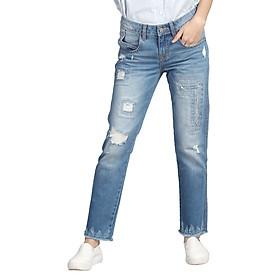 Quần Jeans Boyfriend Nữ ALE JEANS 60406BF - Xanh Nhạt