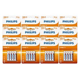 Set 12 Vỉ - Pin Kẽm Philips AAA R03L4B (48 Viên AAA) - Cam