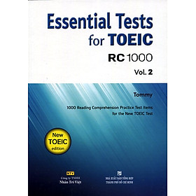 Essential Test For TOEIC RC 1000 Vol 2 (Không CD)