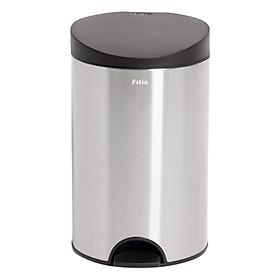 Thùng rác inox FITIS đạp tròn nhỏ RPS1-901 - inox - 12L