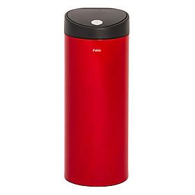 Thùng rác inox FITIS nhấn tròn lớn RTL1-906 - đỏ - 15L