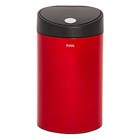 Thùng rác inox FITIS nhấn tròn nhỏ RTS1-906 - đỏ - 12L