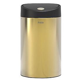 Thùng rác inox Fitis Gold limited - nhấn tròn nhỏ 12L