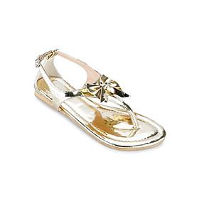 Giày Sandals Xỏ Ngón Đính Nơ Up & Go S01-310-GOD - Vàng