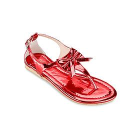 Giày Sandals Xỏ Ngón Đính Nơ Up & Go S01-310-RED - Đỏ