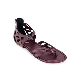 Giày Sandals Xỏ Ngón Khoét Lỗ Up & Go S01-491-RED - Đỏ Đô