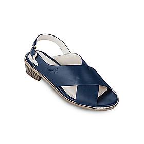 Giày Sandals 3cm Quai Chéo Up & Go S03-474-BLU - Xanh Navy