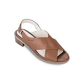 Giày Sandals 3cm Quai Chéo Up & Go S03-474-BRO - Nâu