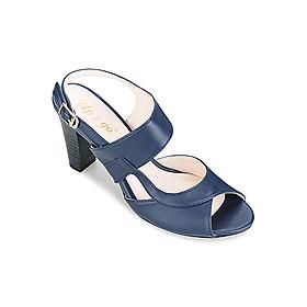 Giày Sandals Cao Gót 7cm Up & Go S07-439-BLU- Xanh Navy