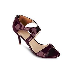 Giày Sandals Cao Gót 7cm Quai Ngang Up & Go S07-455-RED- Đỏ Đô