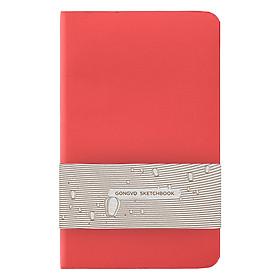 Sổ Simili Gọng Vó - Bìa Trơn - Planner - Đỏ