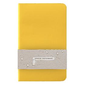 Sổ Simili Gọng Vó - Bìa Trơn - Giấy Trơn - Vàng