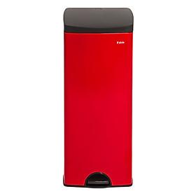 Thùng rác inox FITIS đạp vuông lớn SPL1-906 - đỏ - 22L