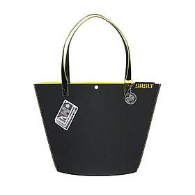 Túi Đeo Vai Nữ SRSLY Tote Bags MILAN - Size Caffe - Đen Vàng