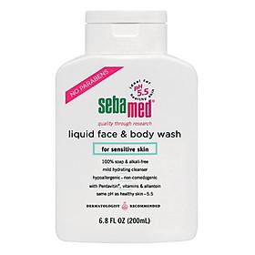 Sữa Rửa Mặt Và Tắm Toàn Thân Cho Da Nhạy Cảm Sebamed Liquid Face & Body Wash SSS01C (200ml)