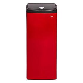 Thùng rác inox FITIS nhấn vuông lớn STL1-906 - đỏ - 22L