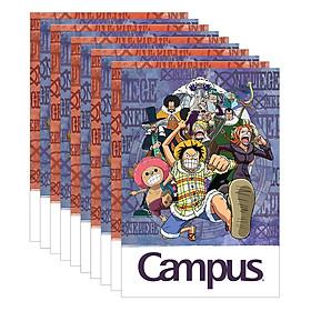 Lốc 10 Cuốn Vở Kẻ Ngang Có Chấm Campus One Piece NB-BOPE80 (80 Trang)