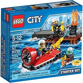 Mô Hình LEGO City Fire - Bộ Cứu Hỏa Khởi Đầu 60106 (90 Mảnh Ghép)