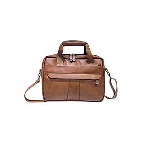 Cặp Công Sở One Bags T01-1 (45 x 7 x 30 cm) - Nâu Bò Nhạt