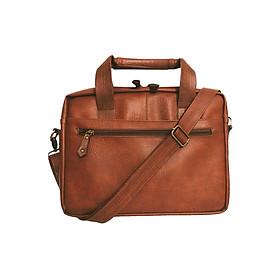 Cặp Công Sở One Bags T01-2 (45 x 7 x 30 cm) - Nâu Bò Đỏ