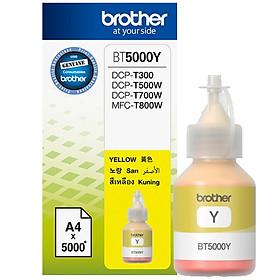 Brother BT5000Y Ink Cho DCP-T300/T700W/MFC-T800W (Vàng) - Hàng Chính Hãng