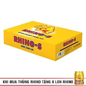 Thùng 24 Lon Nước Tăng Lực Rhino-S (250ml/Lon)