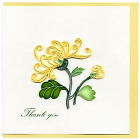 Thiệp Giấy Xoắn Việt Net - Thank You Mẫu 12 (15 x 15 cm)