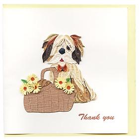 Thiệp Giấy Xoắn Việt Net - Thank You Mẫu 14 (15 x 15 cm)