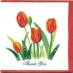 Thiệp Giấy Xoắn Việt Net - Thank You Mẫu 3 (15 x 15 cm)
