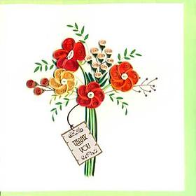 Thiệp Giấy Xoắn Việt Net - Thank You Mẫu 4 (15 x 15 cm)