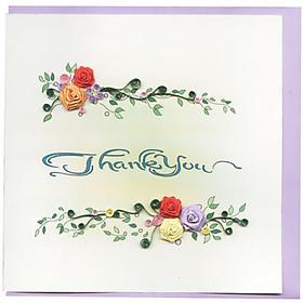 Thiệp Giấy Xoắn Việt Net - Thank You Mẫu 9 (15 x 15 cm)