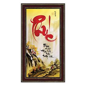 Tranh thư pháp Chữ Phúc (38 x 68 cm) Thế Giới Tranh Đẹp