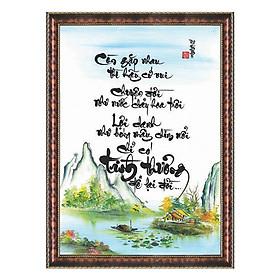 Tranh Thư Pháp TÌNH THƯƠNG ĐỂ LẠI ĐỜI (TP_41X56-6) (41 x 56 cm) Thế Giới Tranh Đẹp